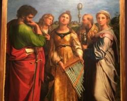 Экстаз Святой Цецилии со святыми Павлом, Иоанном Евангелистом, Августином и Марией Магдалиной