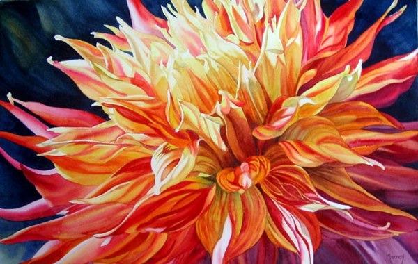 Цветы, акварель